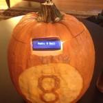 Fully assembled pumpkin